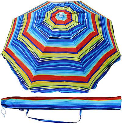 AMMSUN Outdoor Beach Umbrella Patio Shelter, with Tilt Air Vent Carry Bag, 6.5 feet