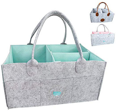 Baby Diaper Caddy Organizer – Diaper Tote Bag