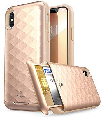 Clayco iPhone XS, X Wallet Case, Argos Series Premium Hybrid Protective Wallet