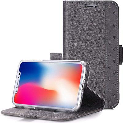 ProCase Folio Folding Wallet Case for iPhone Xs Case iPhone X Case