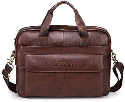 Men's Classic Top Cow Genuine Leather Shoulder Messenger Satchel Bag