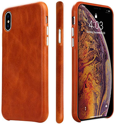 TOOVREN iPhone Xs Leather Case