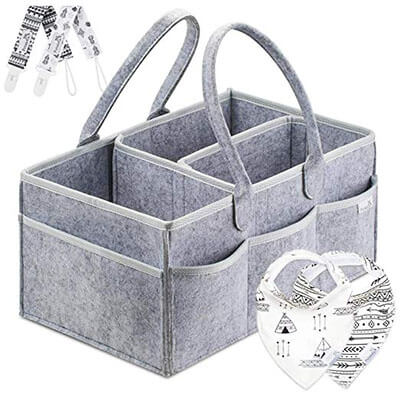 Putska Diaper Caddy Organizer Set