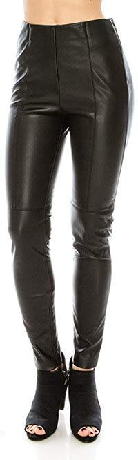 Curiosity USA Women's Faux Leather Pants
