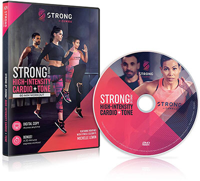STRONG by Zumba Cardio & Tone 60 min High-Intensity Workout DVD featuring Michelle Lewin