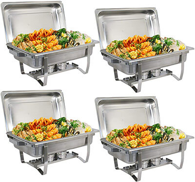 ZenChef Upgraded 8 Quart Stainless Steel Chafer, Full Size Chafer