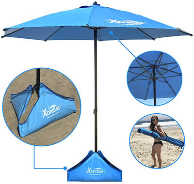 EasyGO Products Xbrella Best High Wind-Resistant Beach Umbrella