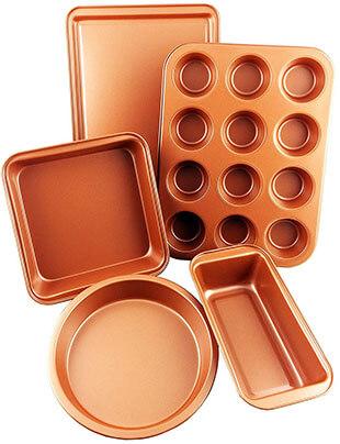 CopperKitchenUSA Five Pieces Bakeware Set