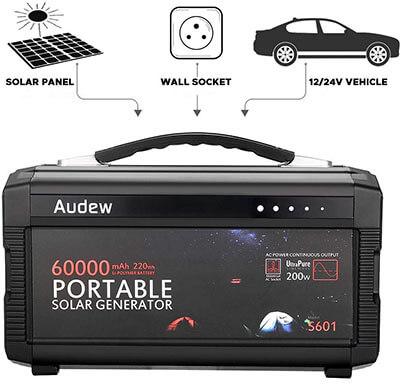Audew 220Wh/60000mAh Battery Generator Power Source