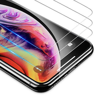 OMOTON HD Tempered Glass Screen Protector for Apple iPhone XS Max -6.5 inches