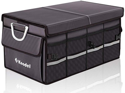Knodel Heavy Duty Car Trunk Organizer with Foldable Cover