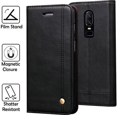 REAL-EAGLE Oneplus 6 Wallet Case
