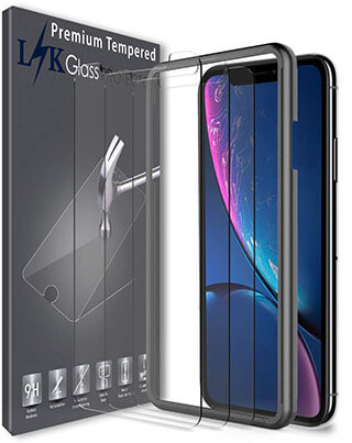 LK Tempered Glass Screen Protector for iPhone XR