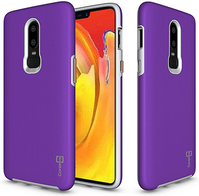 CoverON Slim Protective Hybrid Rugged Series for OnePlus 6 Case