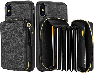 ProCase Genuine Leather Wallet Case for iPhone XS Max with Multiple Card Holders