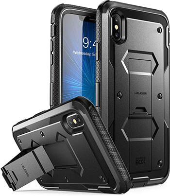 i-Blason iPhone XS Max Case, [Armor box] with Built-in Screen Protector
