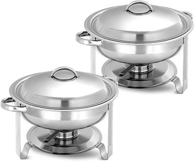 Giantex 2 Packs Chafing Dish 5 Quart -2 Packs Stainless Steel Chafer