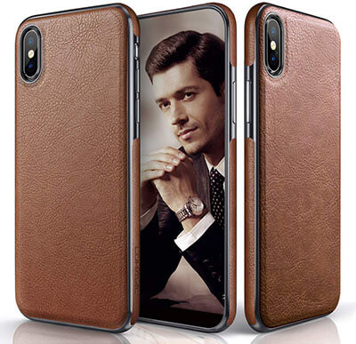 LOHASIC Premium Leather Luxury Flexible iPhone Xs Max Wallet Case
