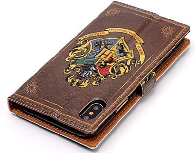 Sunshine-Tech iPhone Xs Max Wallet Case - Antique Book Style Pattern