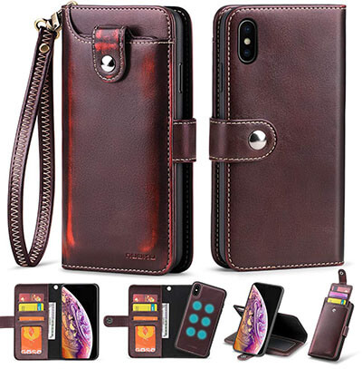 Nuoku for iPhone Xs Max Wallet Case