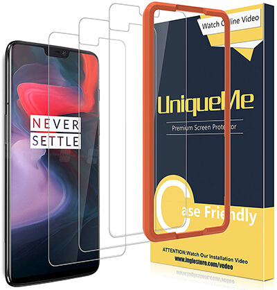 UniqueMe Screen Protector for OnePlus 6
