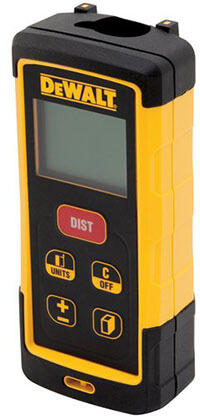 DEWALT DW03050 Laser Distance Measurer, 165-Feet