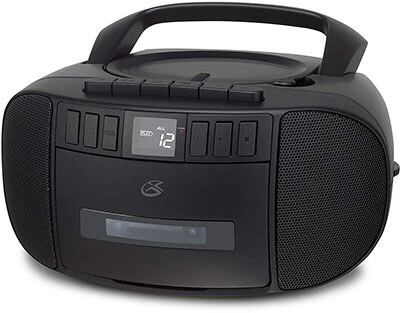 GPX BCA209B Portable Am/FM Boombox with Cassette and CD player