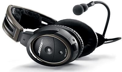 Bose A20 Aviation Headset - Black with Bluetooth U-174 Plug Cable