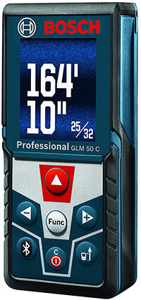Bosch Bluetooth Enabled Laser Distance Measurer