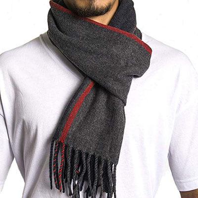 Alpine Swiss Men's Plaid Scarf - Unisex Soft Winter Scarves