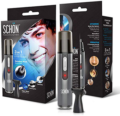 Schcon Best Rechargeable Nose Hair Trimmer