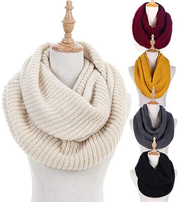 Dimore Women Winter Infinity Scarf Fashion Circle Loop Scarves