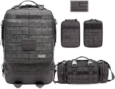CRAZY ANTS Rucksacks- Tactical Military Backpack Camping Backpack