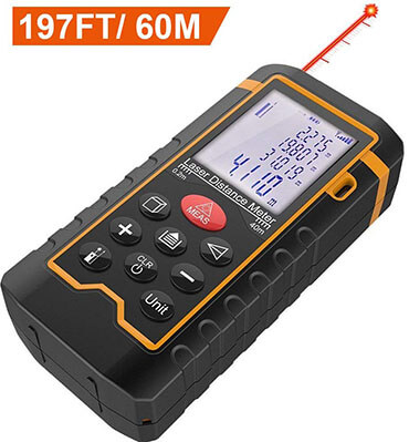 DBPOWER Digital Laser Measure 197Feet/ 60M