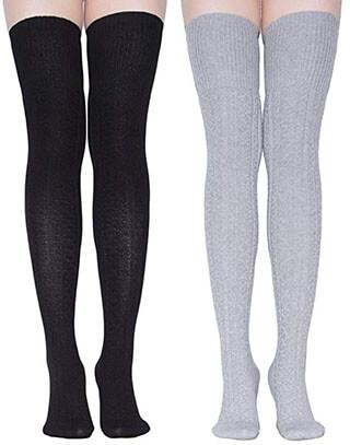 TooPhoto Women's Thigh High Socks