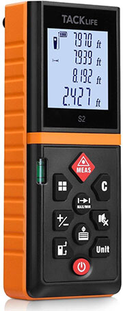 Track life Advanced Laser Measurer, 131 feet