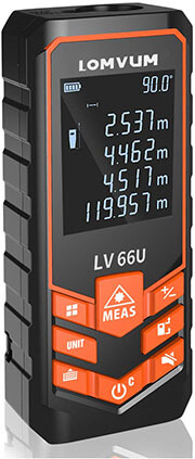 Lomvum laser measurer, 393 feet