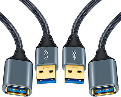 OKRAY USB 3.0 Extension Cable-2 Pack