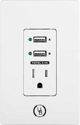 Yubi Power 2.4A USB Wall Outlet