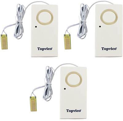 Topvico Flood Alarm Leak Sensor Detector, 130dB