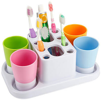 Eslite Toothbrush Large Organizer Stand for Bathroom