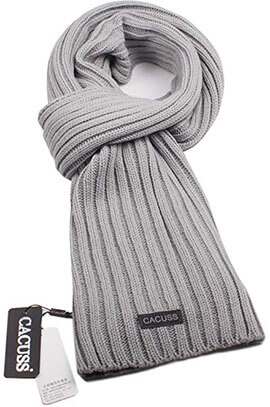 CACUSS Men's Soft Knitted Neckwear- Long Thick Winter Warm Scarf