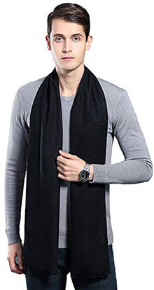 OHAYOMI Winter Cashmere Scarf Soft Scarves for Men