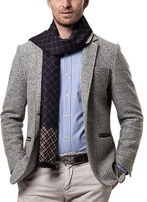 Shubb Men's Fashion Cashmere Scarves for winter