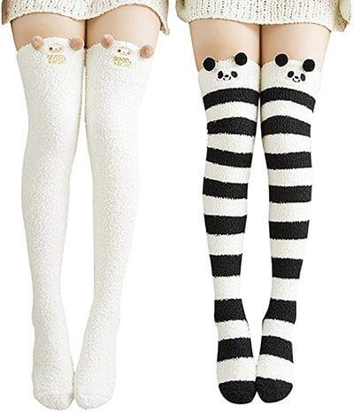 Urban CoCo Women's Cartoon Fuzzy Socks