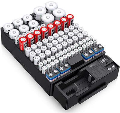 EBL Battery Organizer Storage Case