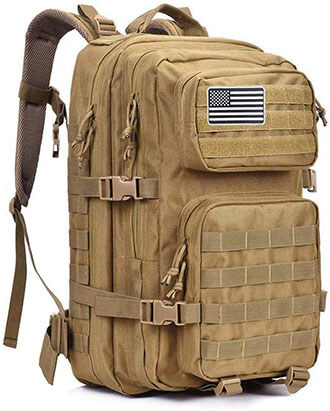 MEWAY Tactical Backpack Large 42L Assault Pack 3-Day Army Rucksacks