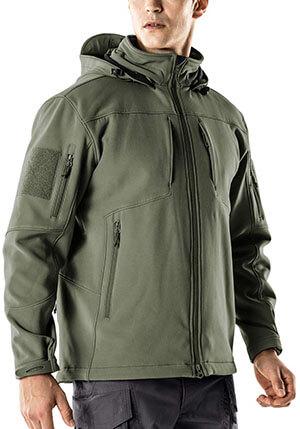 CQR Men's Tactical Softshell Hoodie Coat Jacket