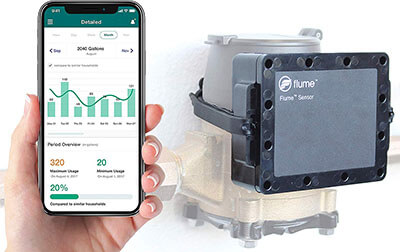 Flume Smart Home Water Sensor-WIFI enabled