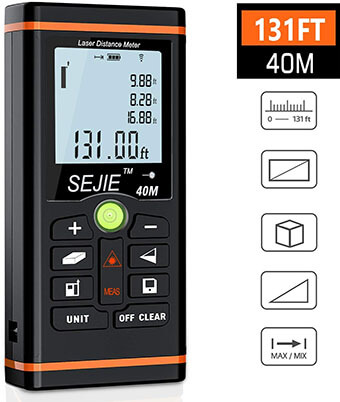 ESYWEN Digital Laser Distance Meter, 131 feet